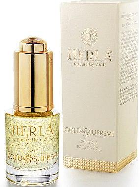 Trockenes Gesichtsöl mit 24k Gold - Herla Gold Supreme 24K Gold Face Dry Oil — Bild N2