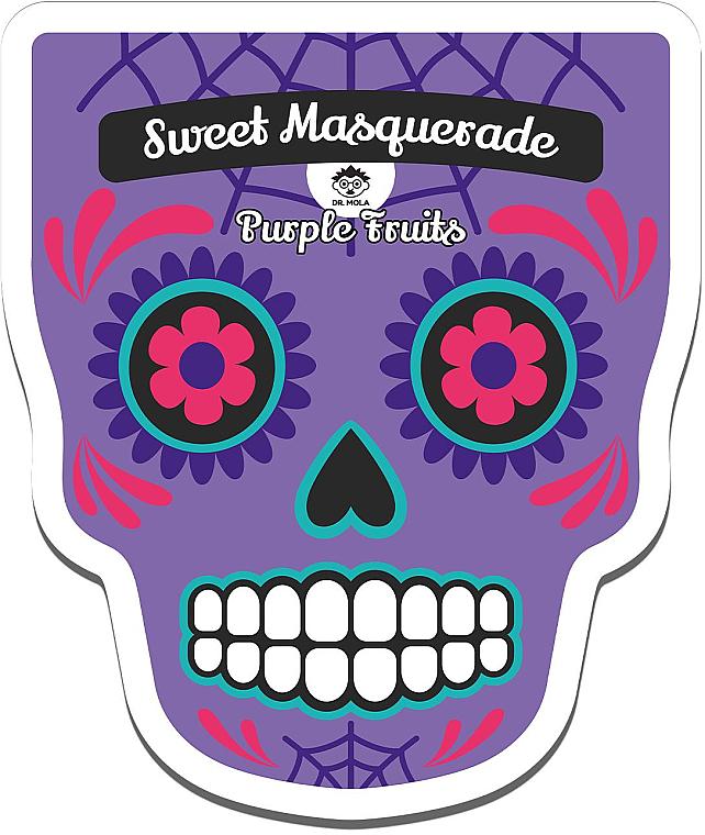 Revitalisierende und feuchtigkeitsspendende Tuchmaske mit Blaubeerextrakt - Dr Mola Sweet Masquarade Pureple Fruits mask — Bild N1