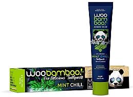 Düfte, Parfümerie und Kosmetik Kinderzahnpasta mit Fluorid und Minzgeschmack - Woobamboo Mint Chill Toothpaste With Fluoride