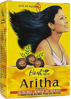 Reinigunspuder mit natürlichen Kräutern für öliges Haar - Hesh Aritha Powder Shampoo — Bild N1