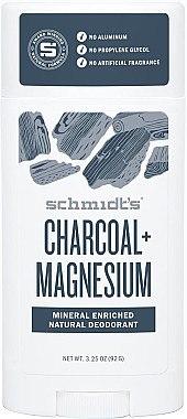 Natürlicher Deostick - Schmidt's Deodorant Stick Charcoal & Magnesium  — Bild N1