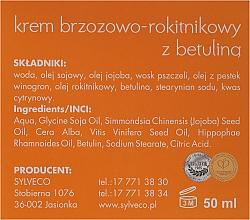 Gesichtscreme mit Betulin, Birken- und Sanddornextrakt für empfindliche, trockene und neurodermische Haut - Sylveco Hypoallergic Birch Day And Night Cream — Bild N3
