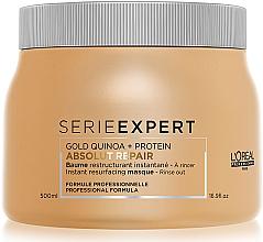Düfte, Parfümerie und Kosmetik Regenerierende Haarmaske - L'Oreal Professionnel Absolut Repair Gold Quinoa +Protein Mask