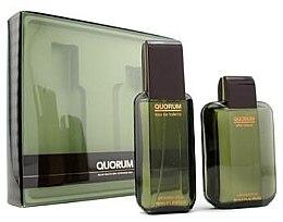 Düfte, Parfümerie und Kosmetik Antonio Puig Quorum - Duftset (Eau de Toilette 100ml + After Shave Lotion 100ml)