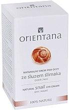 Düfte, Parfümerie und Kosmetik Augencreme für Tag und Nacht mit Schneckenextrakt - Orientana Natural Snail Eye Cream