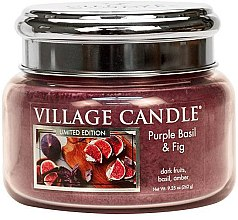 Duftkerze Purple Basil & Fig - Village Candle Purple Basil & Fig Glass Jar — Bild N2
