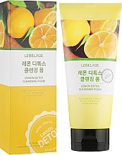 Düfte, Parfümerie und Kosmetik Feuchtigkeitsspendender Reinigungsschaum mit Zitronenextrakt - Lebelage Lemon Detox Cleansing Foam