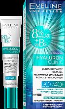 Düfte, Parfümerie und Kosmetik Nährendes Creme-Gel für die Augenpartie gegen Falten 30+/40+ - Eveline Cosmetics Hyaluron Clinic 30+/40+