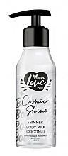 Düfte, Parfümerie und Kosmetik Schimmernde Körpermilch mit Kokosnuss - MonoLove Bio Shimmer Body Milk Coconut Cosmic Shine