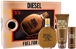 Düfte, Parfümerie und Kosmetik Diesel Fuel for Life Homme - Duftset (Eau de Toilette 75ml + Duschgel 100ml + Duschgel 50ml)
