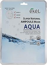 Düfte, Parfümerie und Kosmetik Intensiv feuchtigkeitsspendende Tuchmaske für das Gesicht - Ekel Super Natural Ampoule Mask Aqua