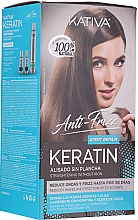 Düfte, Parfümerie und Kosmetik Haarpflegeset - Kativa Anti-Frizz Straightening Without Iron Xpert Repair (Haarmaske 150ml + Shampoo 30ml + Conditioner 30ml)