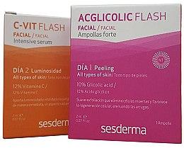 Düfte, Parfümerie und Kosmetik Gesichtspflegeset mit Glykolsäure - SesDerma Laboratories Efekt Flash (Serum 2ml + Serum 2ml)