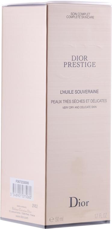 Regenerierendes Gesichtsserum-Öl für sehr trockene und empfindliche Haut mit natürlichen Ölen und Lipiden - Dior Prestige Exceptional Replenishing Serum-in-Oil — Bild N2