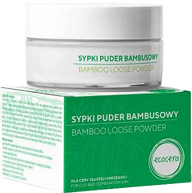 Bambuspulver für fettige und Mischhaut - Ecocera Bamboo Face Powder — Bild N1