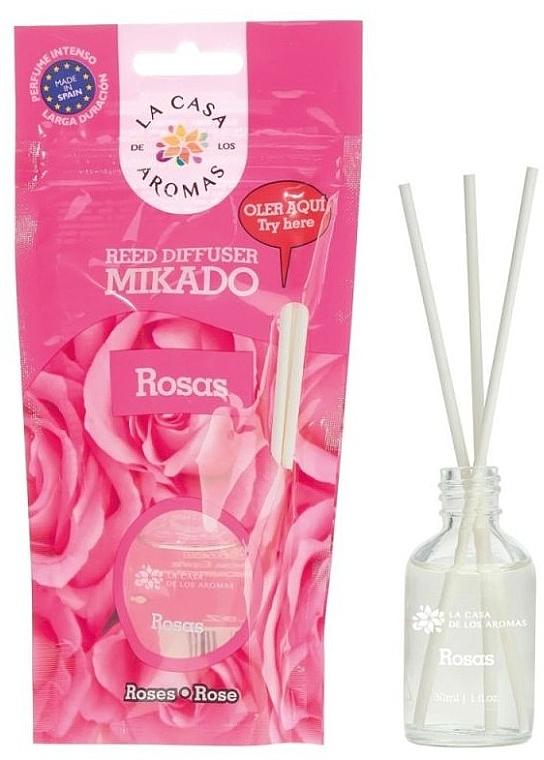 Raumerfrischer Rosen - La Casa de Los Aromas Mikado Reed Diffuser — Bild N1