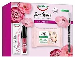 Düfte, Parfümerie und Kosmetik Make-up Set (Lippenstift 1.8g + Lipgloss 3ml + Make-up-Entferner-Tücher 15 St.) - Equilibra Love's Nature Make Up