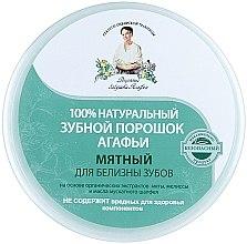 100% Natürliches aufhellendes Zahnpulver mit Minzextrakt - Rezepte der Oma Agafja — Bild N2