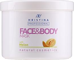 Düfte, Parfümerie und Kosmetik Pflegende straffende und beruhigende Körper- und Gesichtsmaske mit Melonenextrakt - Hristina Professional Melon Face & Body Mask