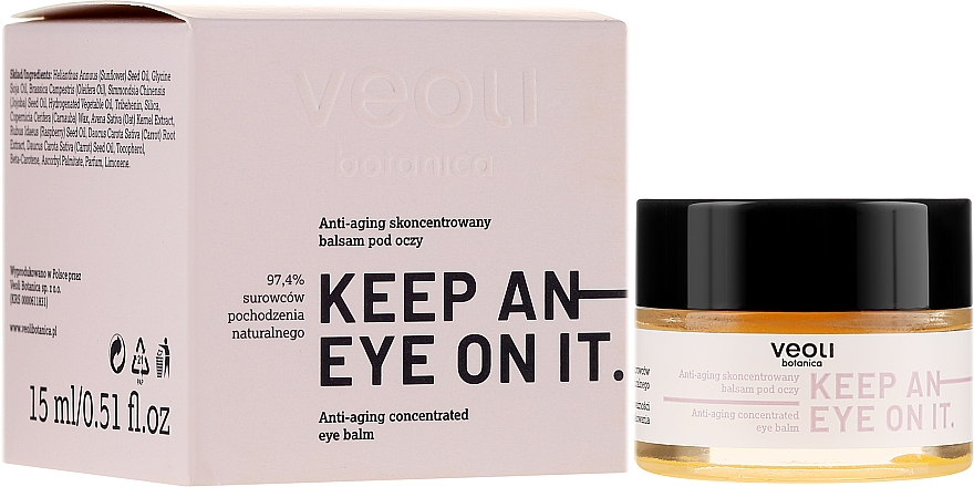 Konzentrierter Anti-Aging Balsam für die Augenpartie - Veoli Botanica Anti-aging Concentrated Eye Balm Keep An Eye On It