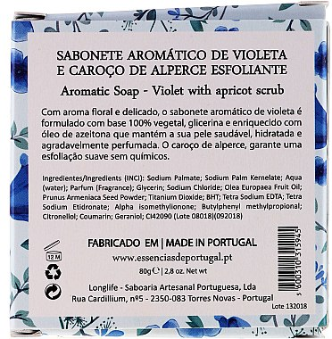 Naturseife Violet Scrub - Essencias De Portugal Violet whit Apricot Kernel Scrub Aromas Collection — Bild N3