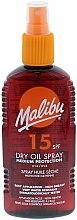 Düfte, Parfümerie und Kosmetik Sonnenschutzöl LSF 15 - Malibu Dry Oil Spray Medium Protection Very Water Resistant SPF 15