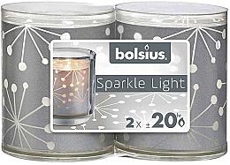 Düfte, Parfümerie und Kosmetik Kerzenhalter mit Kerzen 2 St. - Bolsius Sparkle Lights Crystal Silver Candle