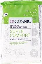 Düfte, Parfümerie und Kosmetik Feuchttücher für die Intimhygiene mit Kamillenextrakt, 10 St - Cleanic Super Comfort Wipes