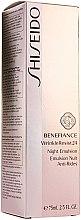 Düfte, Parfümerie und Kosmetik Feuchtigkeitsspendende Anti-Aging- Nachtemulsion - Shiseido Benefiance WrinkleResist24 Night Emulsion