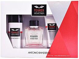 Düfte, Parfümerie und Kosmetik Antonio Banderas Power Of Seduction - Duftset (Eau de Toilette 100ml + Deodorant 150ml + After Shave Balsam 75ml)