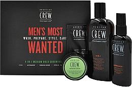 Düfte, Parfümerie und Kosmetik Haarpflegeset - American Crew Men's Most Wanted (3in1 Shampoo, Conditioner und Duschgel 250ml + Modellierende Haarcreme 50g + Haarstylingspray Flexibler Halt 100ml + Feuchtigkeitsspendender Gesichtsbalsam 7.4ml)