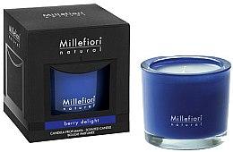 "Düfte, Parfümerie und Kosmetik Duftkerze im Glas ""Berry Delight"" - Millefiori Milano Natural Candle Berry Delight"