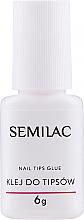 Düfte, Parfümerie und Kosmetik Nagelspitzenkleber mit Pinsel - Semilac Nail Tip Glue