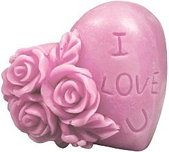 Düfte, Parfümerie und Kosmetik Handgemachte Glycerinseife Herz mit Kirschduft - LaQ Happy Soaps Natural Soap