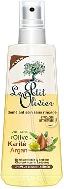 Regenerierendes Haarspray mit Sheabutter, Argan- und Olivenöl - Le Petit Olive Karite Argan Demelant Soins — Bild N1