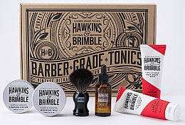 Bartpflege Set - Hawkins & Brimble Set (After-Shave Balsam 125ml + Bartpeeling 125ml + Bartöl 50ml+ Rasiercreme 100ml + Haarwachs 100ml + Rasierpinsel) — Bild N3