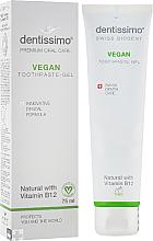 Düfte, Parfümerie und Kosmetik Natürliches Zahnpasta-Gel mit Vitamin B12 - Dentissimo Vegan with Vitamin B12