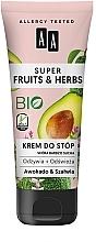 Düfte, Parfümerie und Kosmetik Pflegende und kühlende Fußcreme mit Avocado und Salbei - AA Super Fruits & Herbs