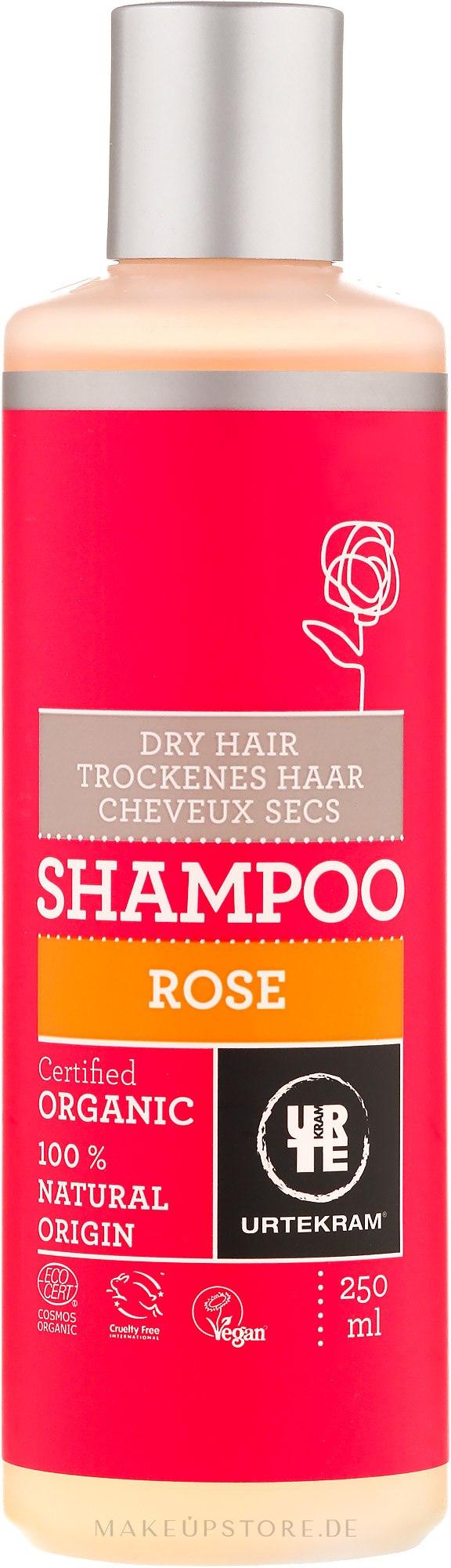 "Shampoo für trockenes Haar ""Rose"" - Urtekram Rose Dry Hair Shampoo — Bild 250 ml"
