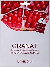 Düfte, Parfümerie und Kosmetik Erfrischende Gesichtsmaske mit Granatapfel - LomiLomi Granat