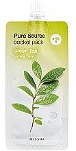 Düfte, Parfümerie und Kosmetik Feuchtigkeitsspendende Nachtmaske mit grünem Tee - Missha Pure Source Pocket Pack Green Tea