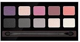 Düfte, Parfümerie und Kosmetik Lidschattenpalette mit 10 Farben - Pierre Rene Palette Match System Eyeshadow Purple Rain