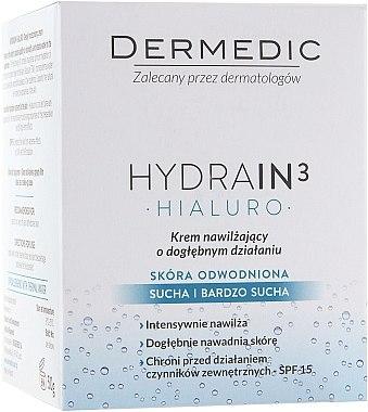 Feuchtigkeitsspendende Gesichtscreme SPF 15 - Dermedic Hydrain3 Hialuro Deeply Moisturizing Cream SPF 15 — Bild N3