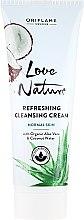Düfte, Parfümerie und Kosmetik Reinigungscreme mit Bio Aloe Vera und Kokosnusswasser - Oriflame Love Nature Refreshing Cleansing Cream