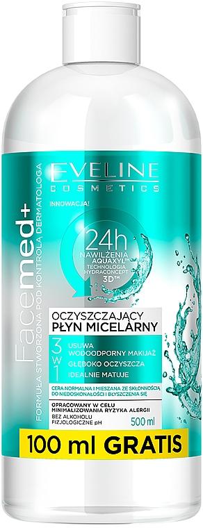 Mizellen-Reinigingswasser für normale und gemischte Haut - Eveline Cosmetics Facemed+ Micellar Water — Bild N1