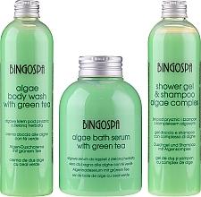 Düfte, Parfümerie und Kosmetik Geschenkset zum Baden - BingoSpa Green Set (Algenbadeserum mit grünem Tee 500ml + Shampoo und Duschgel 300ml + Algen-Duschcreme 300ml)
