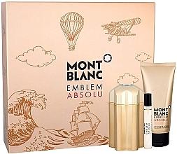 Düfte, Parfümerie und Kosmetik Montblanc Emblem Absolu - Duftset (Eau de Toilette/100ml + Duschgel/100ml + Mini/7,5ml)
