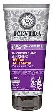 Düfte, Parfümerie und Kosmetik Haarmaske - Natura Siberica Iceveda Greenland Juniper&Argan Oil Thickening and Enriching Herbal Hair Mask