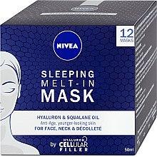 Düfte, Parfümerie und Kosmetik Anti-Aging Nachtmaske für Gesicht, Hals und Dekolleté mit Squalan und Hyaluronsäure - Nivea Cellular Filler Sleeping Melt-In Mask