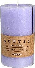 Düfte, Parfümerie und Kosmetik Handgemachte Duftkerze violett - Artman Rustic Classic Candle Ø7xH11.5cm